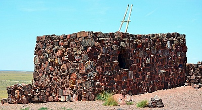Agate House at Petrified Forest National Park, Arizona.