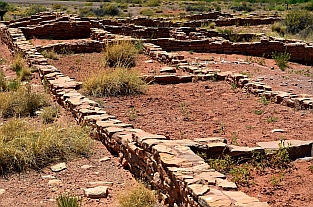 We hike to Puerco Pueblo Indian ruins at the north end of the Petrified Forest National Park, Arizona.