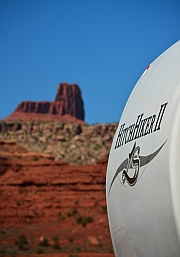 We're happily camped alongside the Bicentennial Highway, Scenic Route 95 in Utah.