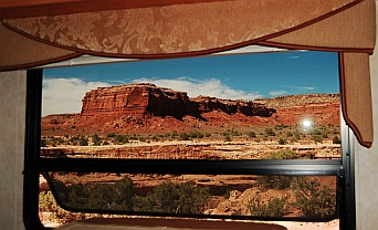 Views out our window from our boondocking spot on the Bicentennial Highway, Scenic Route 95 in Utah.