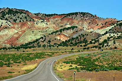 Richfield Utah is green farmland tucked between red rock mountains.