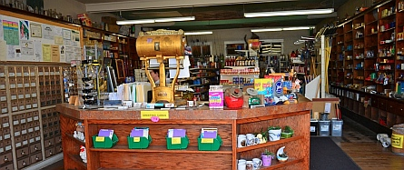 Inside the Grass Valley Mercantile Co. Koosharem, Utah.