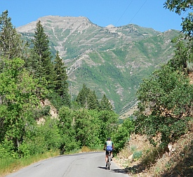 Provo Canyon is a great spot for cycling.