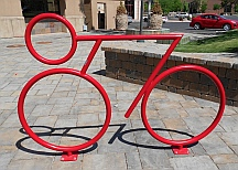 Cool bike rack.