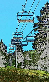 Chair lifts at Sundance Resort, Utah.