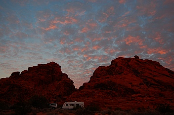 Sunrise at Atlat Campground Valley of Fire State Park, Las Vegas, Nevada