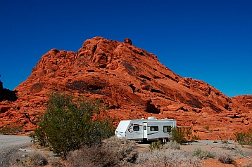 Campground at Valley of Fire State Park, Las Vegas, Nevada