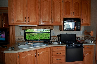 5th wheel RV Kitchen NuWa Hitchhiker 36' fifth wheel