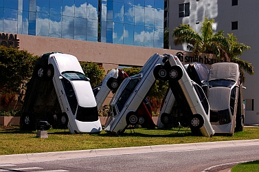 Traffic jam in Miami