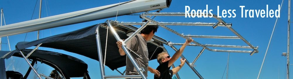 Boat solar panel installation