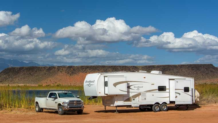 Fifth wheel RV living and nomadic lifestyle travel stories-min