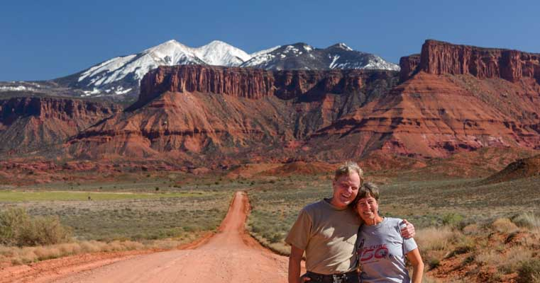 Happy RVers out RV living and sharing travel stories from Utah-min