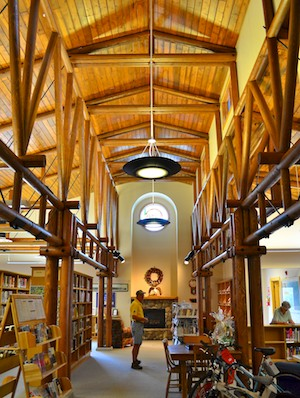 Darby, MT, library is made from small-diameter timber