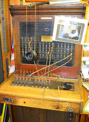 Telephone switchboard, Darby, MT