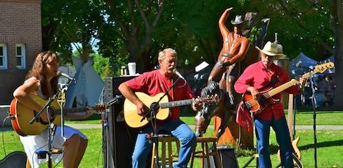 Music at the Hamilton Farmer's Market in Montana
