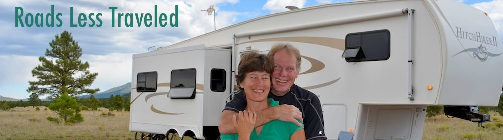 Full-time RV travel, camping and boondocking in a fifth wheel trailer Williams Arizona
