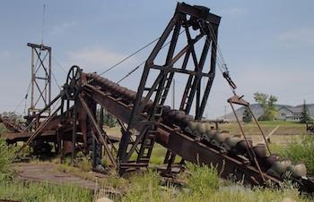 Gold digging dredge Nevada City, MT