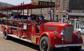 Virginia City, Montana, tours in a firetruck