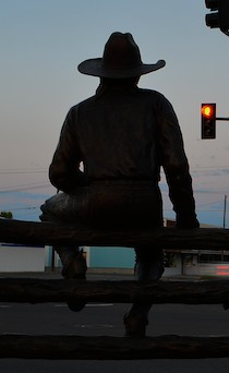 Cowboy sculpture in Dillon, MT