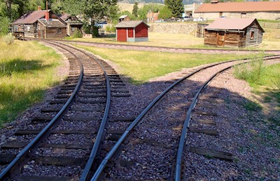 Virginia City, Montana, narrow guage railroad for tours