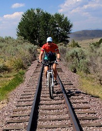 Virginia City, Montana, narrow guage rail line