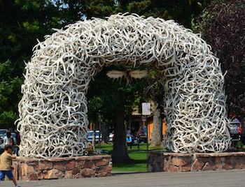 Jackson Wyoming Elk Antler Arch