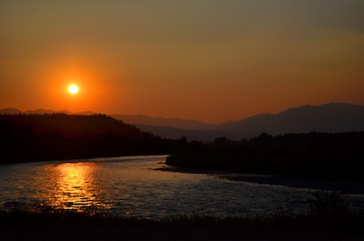 Jackson Wyoming Sunset over Snake River