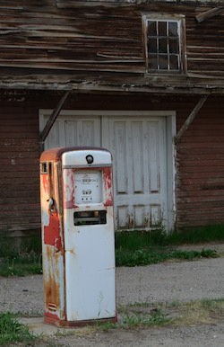 Virginia City, Montana, antique gas pumps