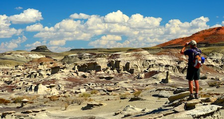Bisti Badlands New Mexico searching for the cracked eggs