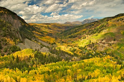 San Juan Mountains Colorado fall foliage