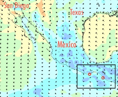 Golfo de Tehuantepec crossing from Puerto Chiapas to Huatulco during calm