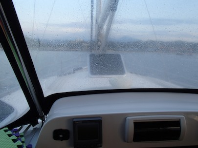 Gulf of Tehuantepec salt spray covers our dodger