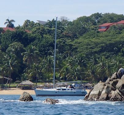 Bahias de Huatulco Tangolunda Bay sailboat