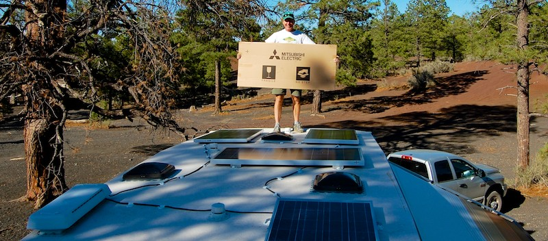 RV Solar power instalation on a fifth wheel trailer