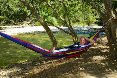 Hagia Sofia Huatulco has wonderful riverside hammocks