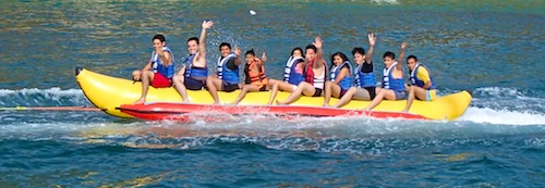 Santa Cruz Bay Huatulco Anchorage sail blog Banana Boat