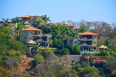views from our sailing cruise: Las Palmas Resort in Huatulco Mexico