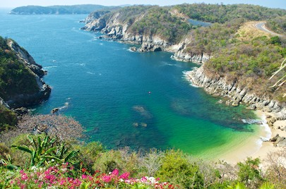 From our Mexico cruise: Las Palmas Resort on Playa Violin in Huatulco