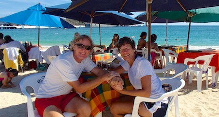 Living the dream sailing blog in Santa Cruz Beach Huatulco Mexico