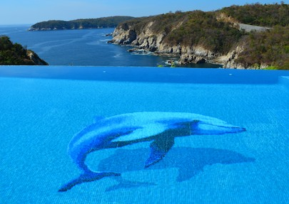 Las Palmas Resort Huatulco Mexico dolphin pool