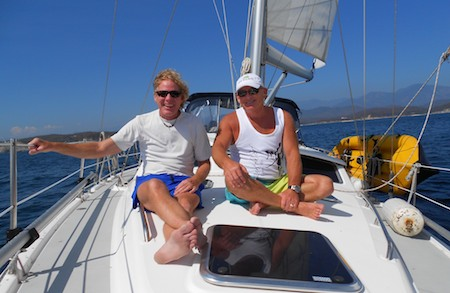 Sailing Groovy in Huatulco Mexico