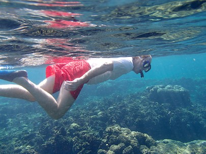 Snorkeling at Playa Entrega Huatulco cruising blog