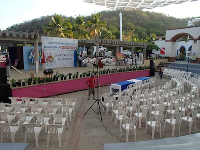 Santa Cruz Huatulco Mexico Christmas stage from our sailing blog
