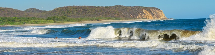 From our sail blog - surf at Playa La Bocana Huatulco Mexico