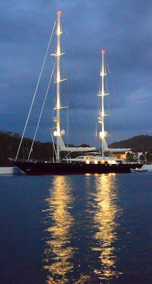 While sailing Mexico's Pacific Coast we saw sailing mega-yacht Tamsen