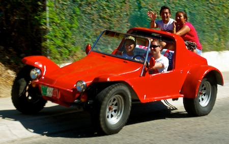 red dune buggy Huatulco sail blog
