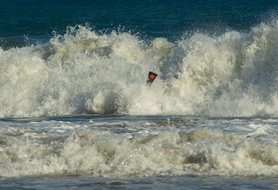 Body surfing at Playa La Bocana Huatulco Mexico from our sailing blog
