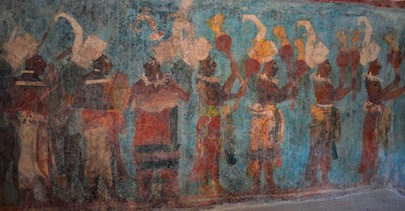 Mayan wall frescos at Bonampak