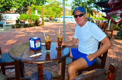 Coffee ice cream drinks Huatulco Mexico sailing blog