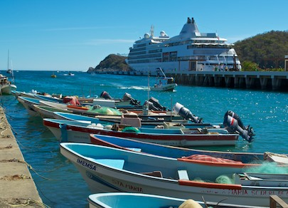 Cruise ship Huatulco Mexico cruising blog